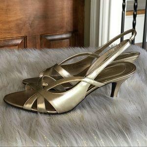 Naturalizer N5 Gold Heels